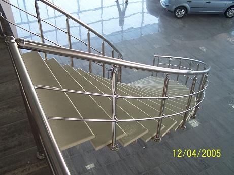 paslanmaz bükümlü merdiven ve duvar korkuluk