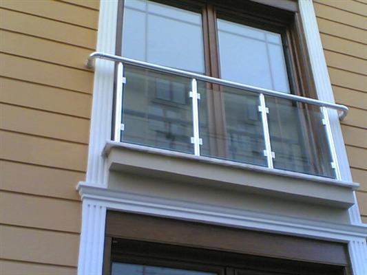 alüminyum üsten dikmeli camlı balkon korkuluk