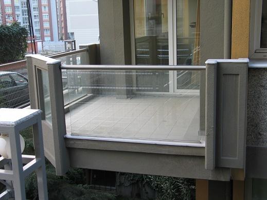 alüminyum cam kanallı camlı balkon korkuluk