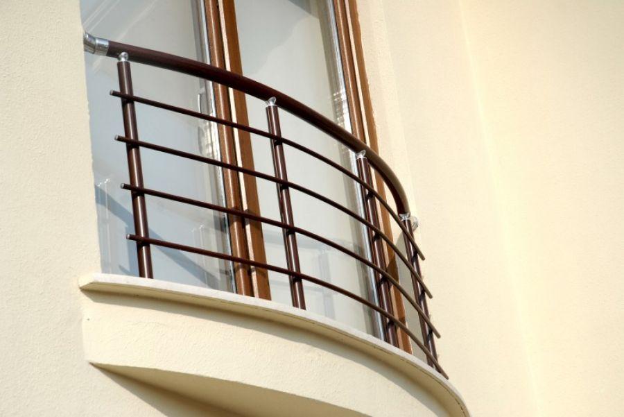 alüminyum yatay çubuklu fransız balkon korkulukları